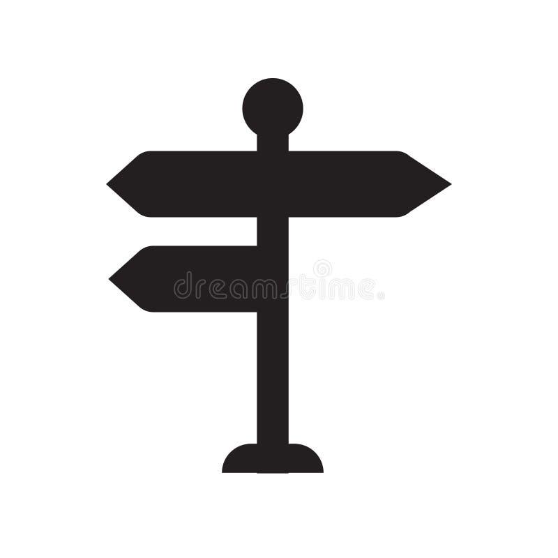 Rozdroże szyldowa ikona  ilustracja wektor