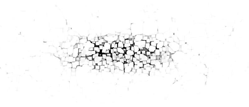 Rozdrobnić ściennego abstrakt ilustracji