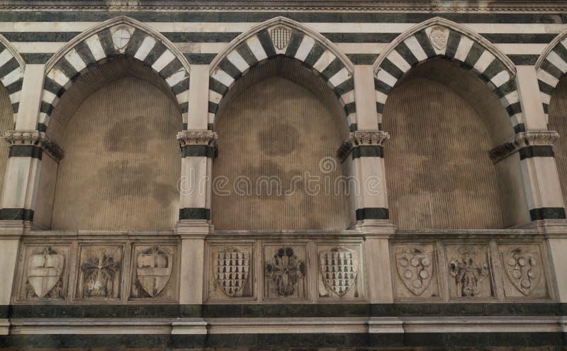 Rozdziela bazylikę Santa Maria nowele - sławny punkt zwrotny Florencja, Włochy obrazy royalty free