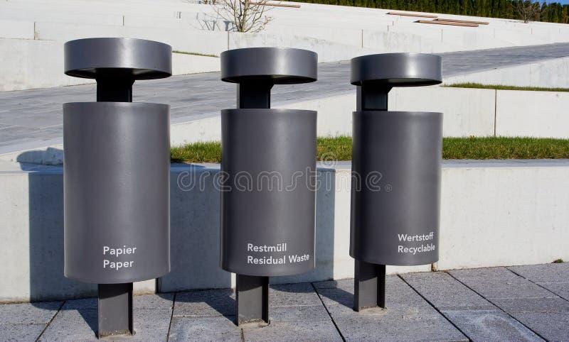rozdzielenie odpady fotografia stock