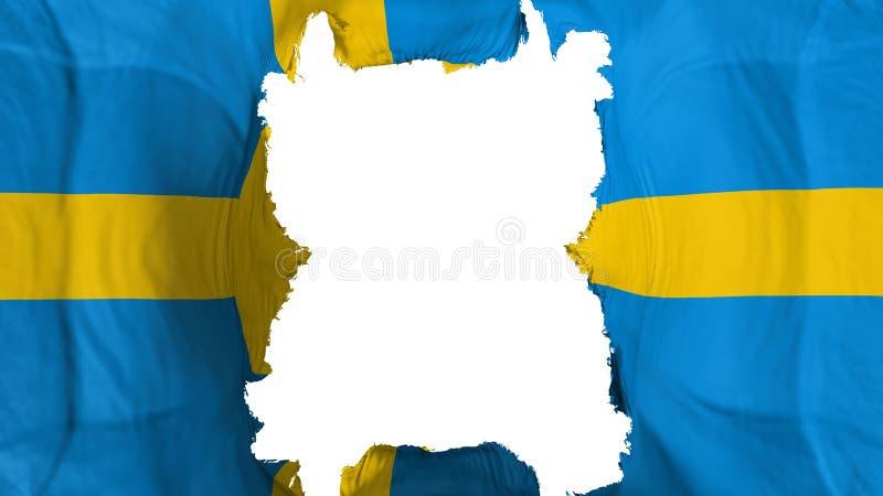 Rozdzierająca Szwecja latania flaga ilustracji