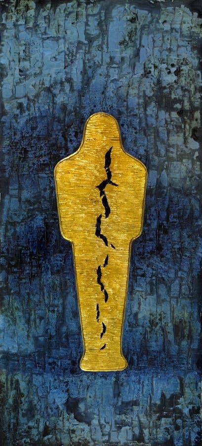 Rozdzierająca złota Mamusia royalty ilustracja
