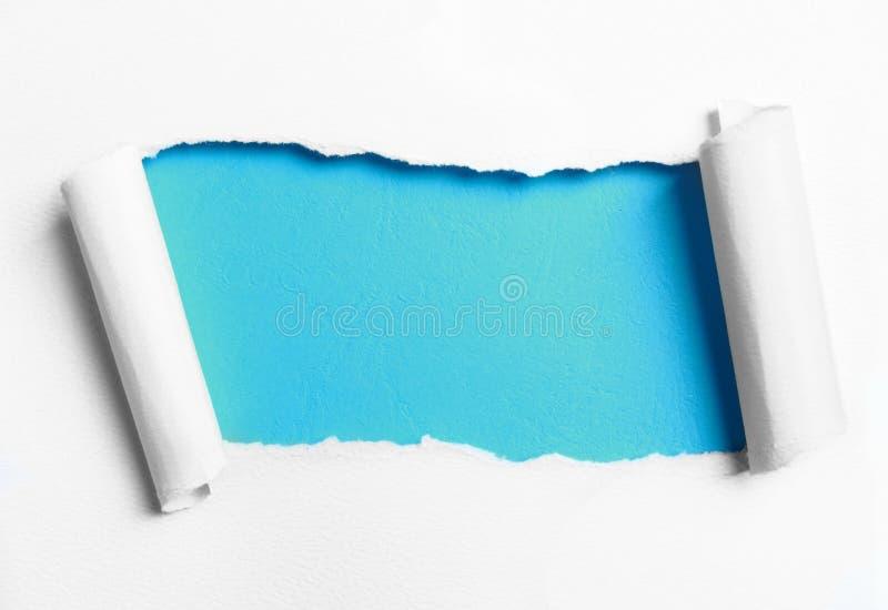 Rozdzierający biały papier royalty ilustracja