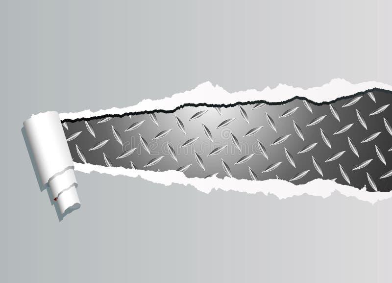 rozdzierający metalu talerz ilustracji
