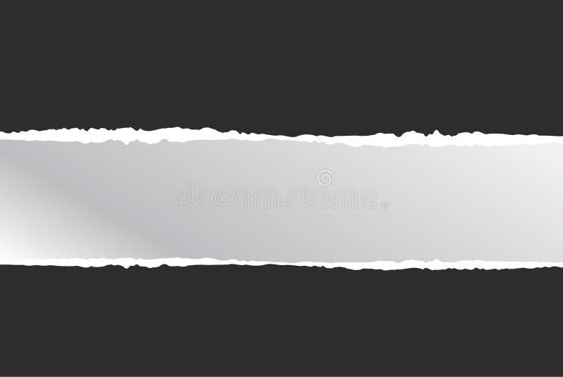 Rozdzierający papierowy czerń i ilustracja, ilustracji