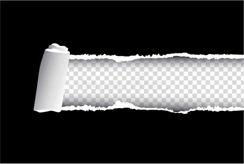 Rozdzierający papierowy czerń i ilustracja na tle, royalty ilustracja