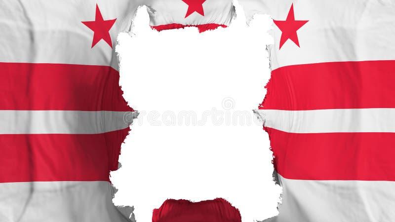 Rozdzierający washington dc stan lata flagę royalty ilustracja