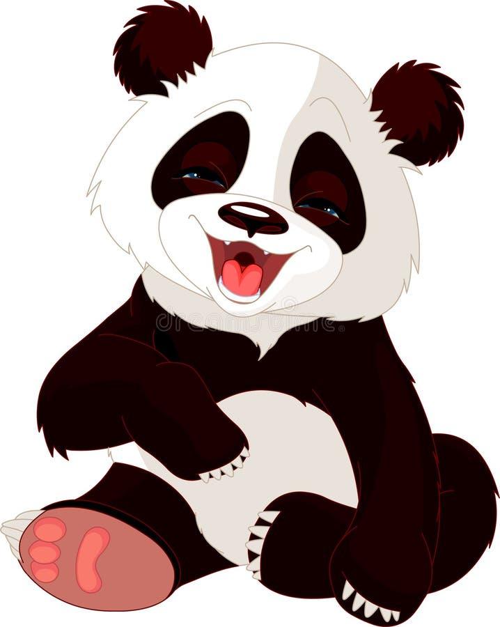 roześmiana dziecko panda ilustracji