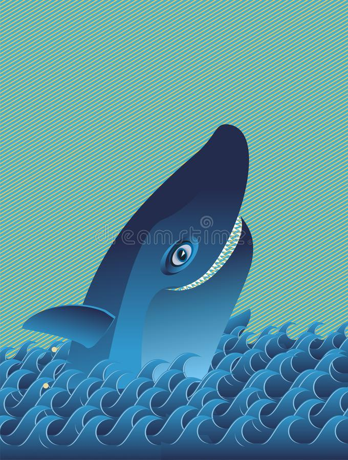 roześmiany kreskówka rekin ilustracji