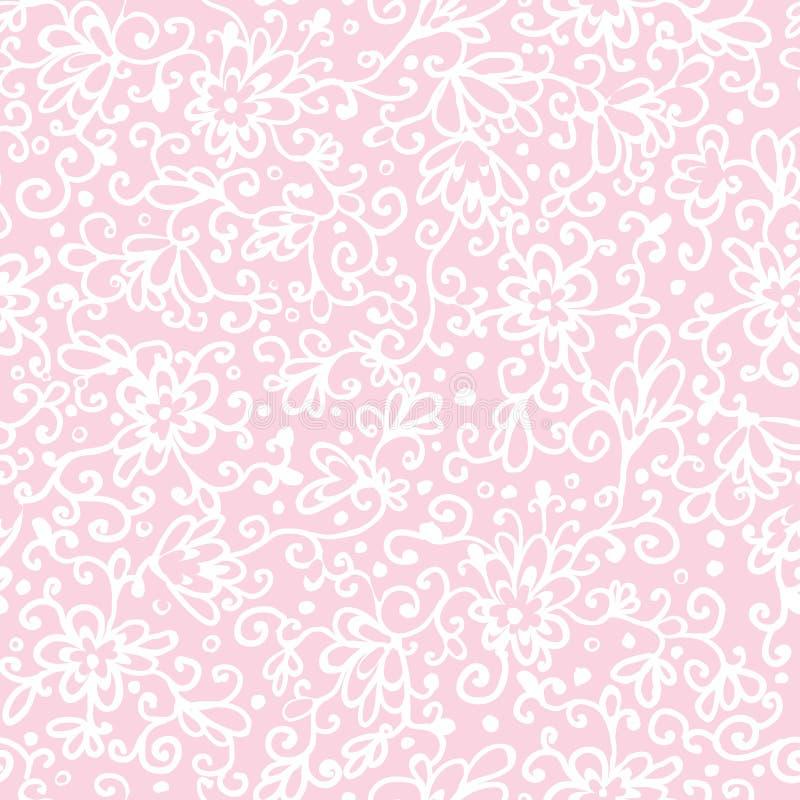 Roze abstract bloementextuur naadloos patroon vector illustratie