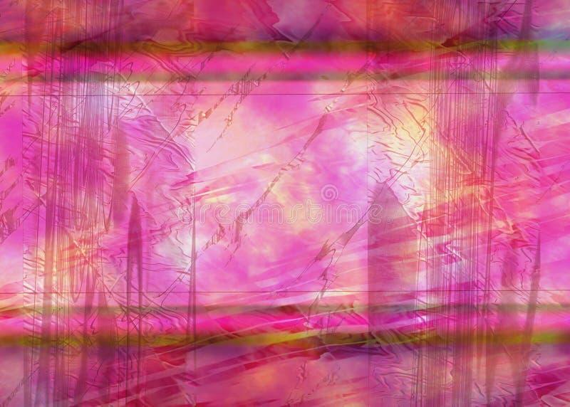 Roze Abstracte Achtergrond of Achtergrond stock illustratie