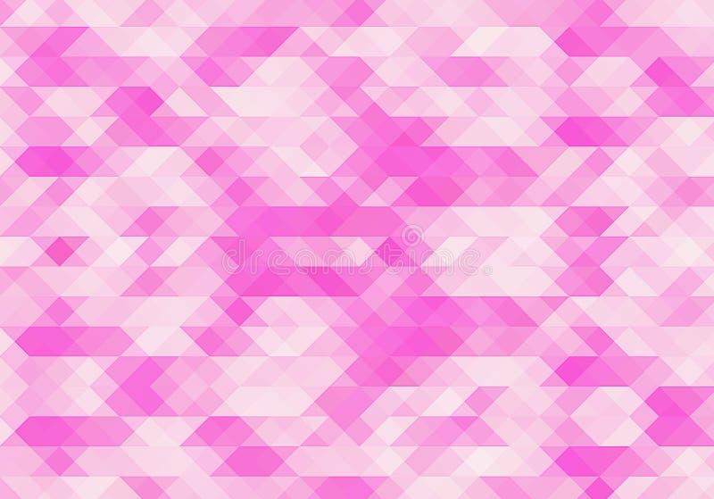Roze achtergrond Abstracte veelhoekige illustratie Geometrische driehoek Mozaïekgradiënt stock illustratie