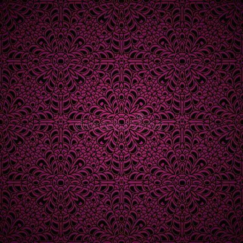 Roze achtergrond met gebreid patroon stock illustratie
