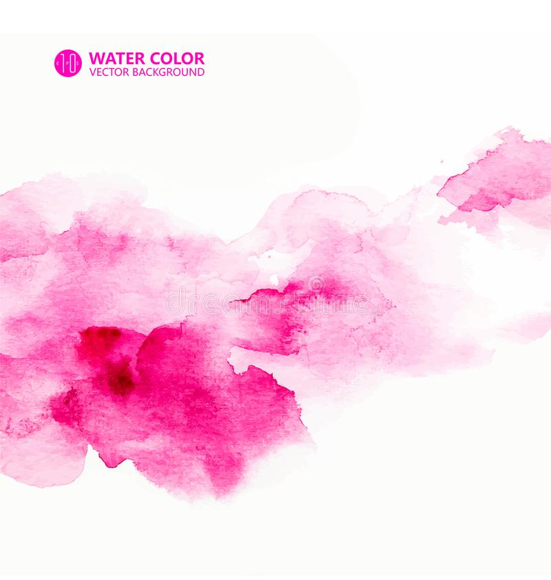 Roze achtergrond, roze textuureffect, waterverfeffect beeldeffect stock illustratie