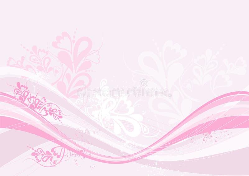 Roze achtergrond, vector stock illustratie