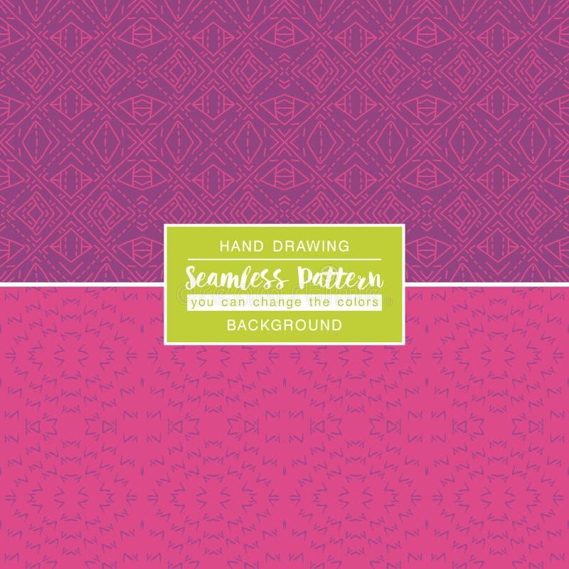 Roze achtergronden met naadloze patronen Ideaal voor druk royalty-vrije illustratie