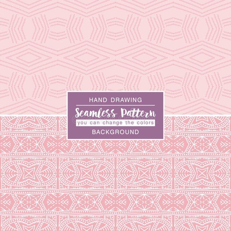 Roze achtergronden met naadloze patronen Ideaal voor druk stock illustratie