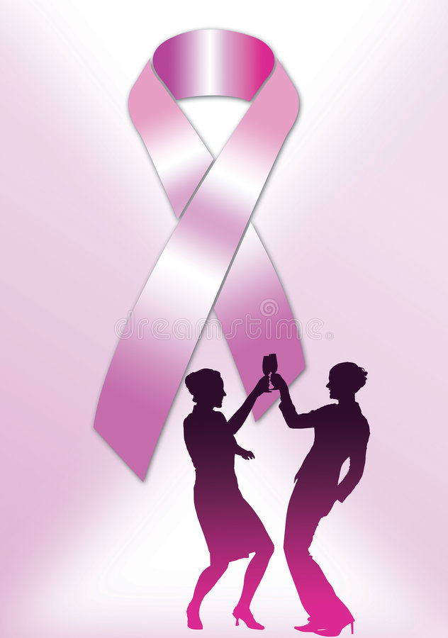 Roze Affiche 1 van het Lint royalty-vrije illustratie