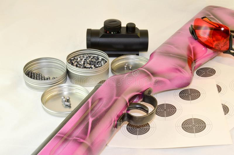 Roze airgun stock foto