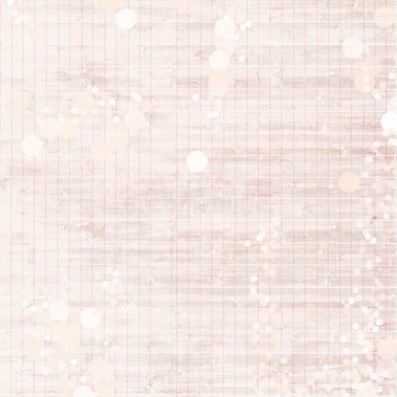 Roze Antieke Uitstekende Sjofele Elegante verontruste grungy grootboekdocument achtergrond royalty-vrije stock afbeeldingen