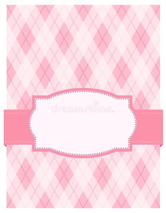 Roze argylekaart als achtergrond vector illustratie