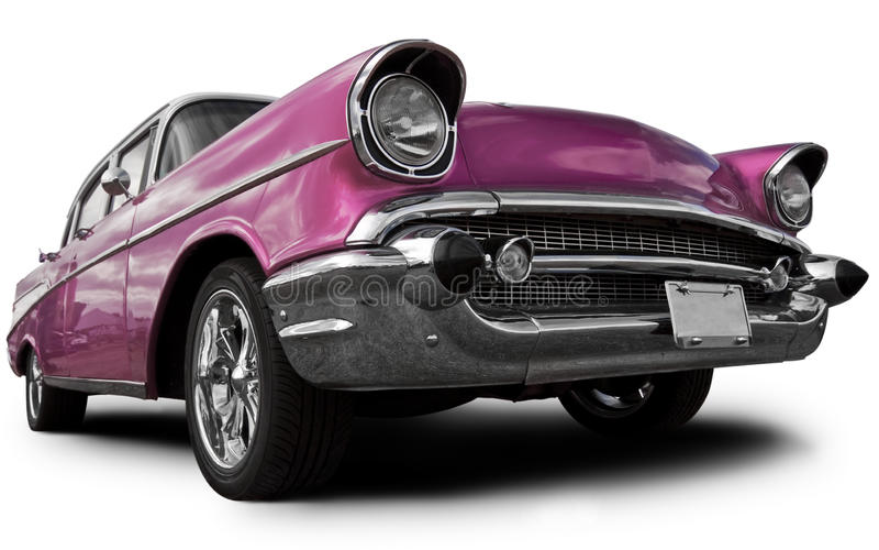 Roze auto royalty-vrije stock afbeelding