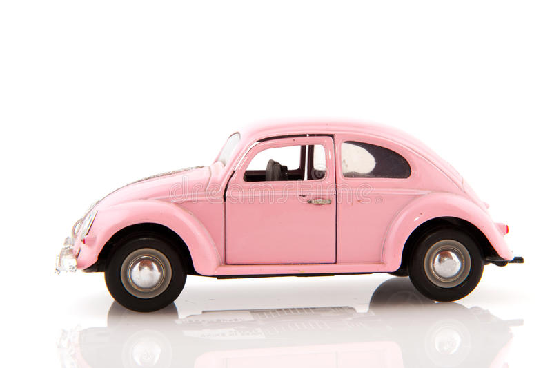 Roze auto royalty-vrije stock fotografie