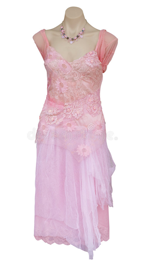 Roze Avondjurk royalty-vrije stock foto