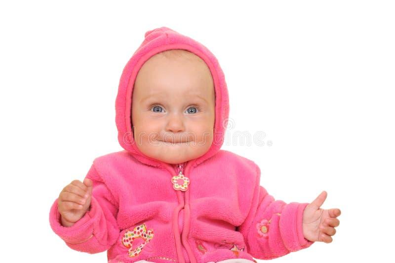Roze babymeisje stock foto