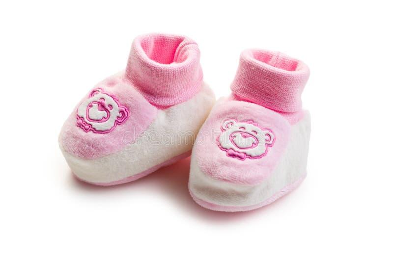 Roze babyschoenen royalty-vrije stock afbeelding