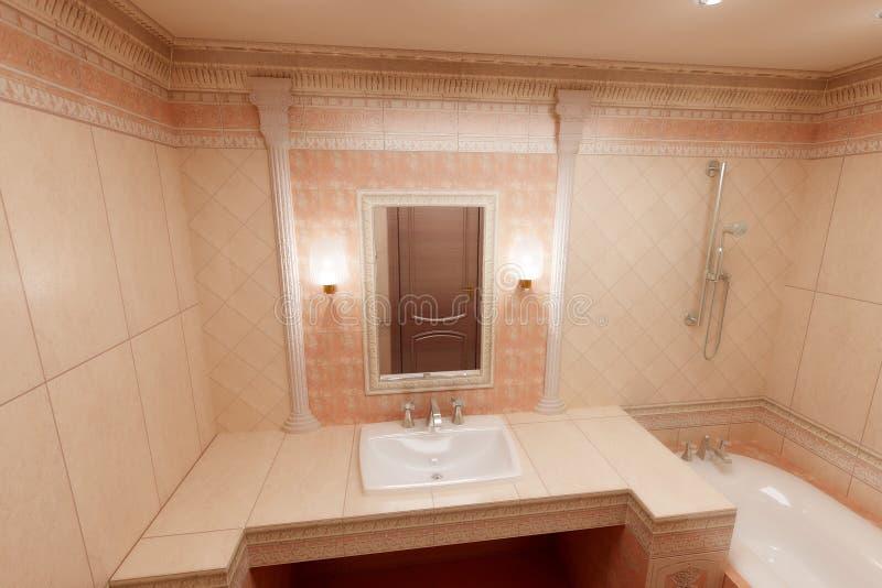 Download Roze badkamers stock afbeelding. Afbeelding bestaande uit binnenlands - 10779743