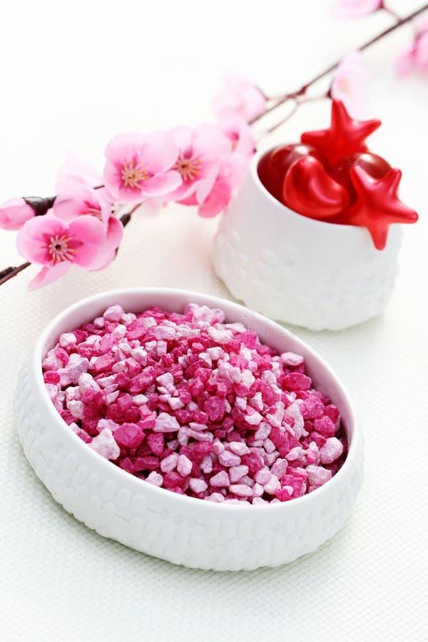 Roze badzout stock afbeelding