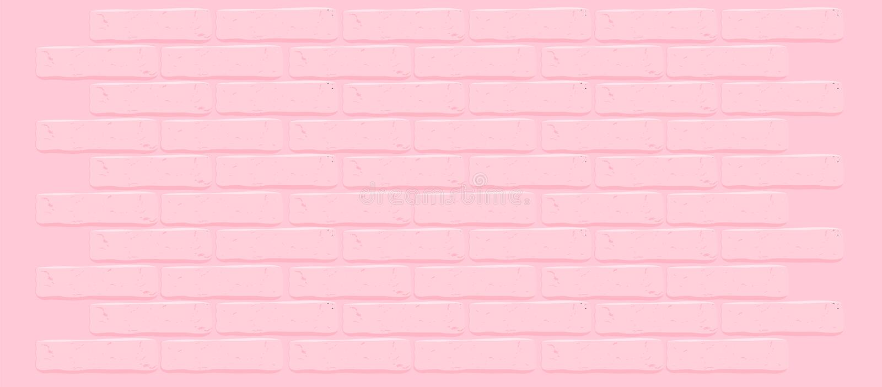 Roze bakstenen muurtextuur Gebarsten lege achtergrond Grunge zoet behang vector illustratie