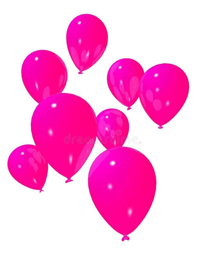 Roze ballons vector illustratie