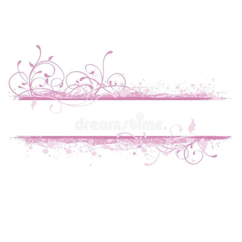 Roze bannerillustratie stock illustratie