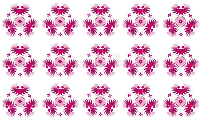 Roze Batikpatroon voor Stof vector illustratie