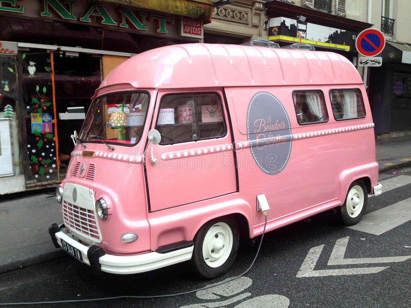 Roze bestelwagen royalty-vrije stock fotografie