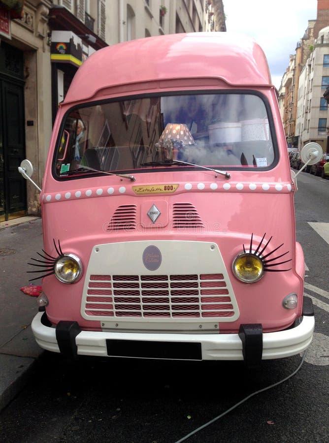 Roze bestelwagen royalty-vrije stock foto