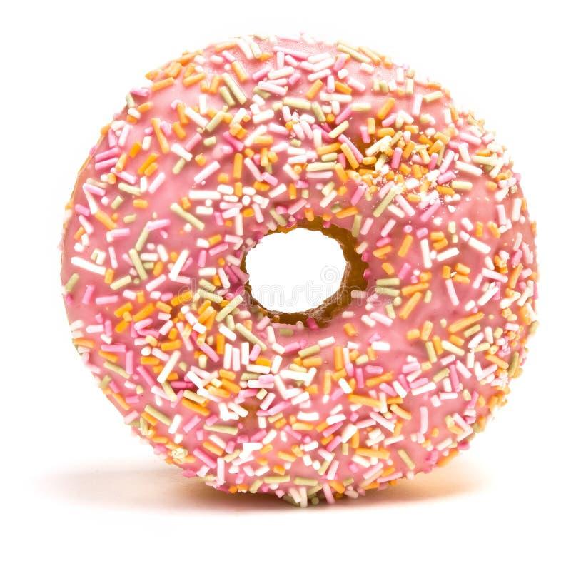 Roze Bevroren Doughnut royalty-vrije stock foto's