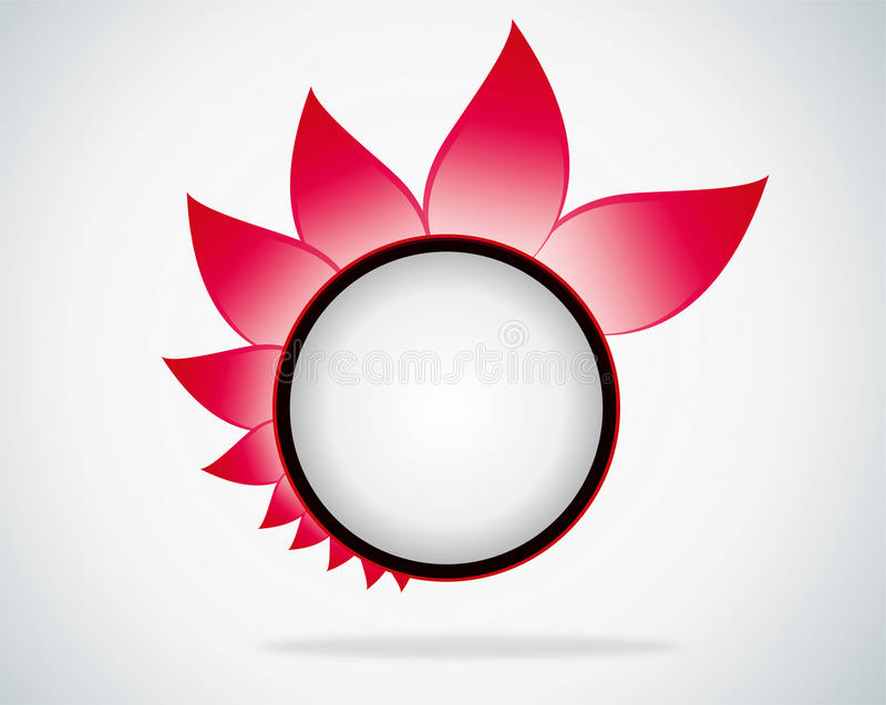 Roze bladachtergrond vector illustratie