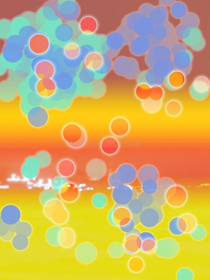 Roze, blauwe, gele, oranje en violette abstracte achtergrond en textuur stock afbeeldingen