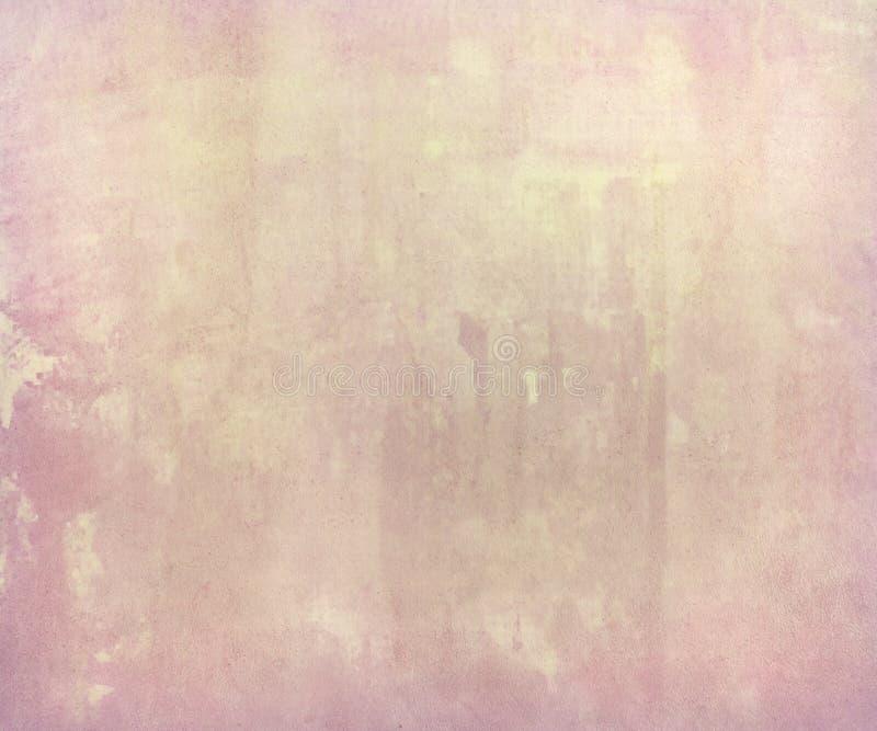Roze bleke waterverfwas op met de hand gemaakt document vector illustratie
