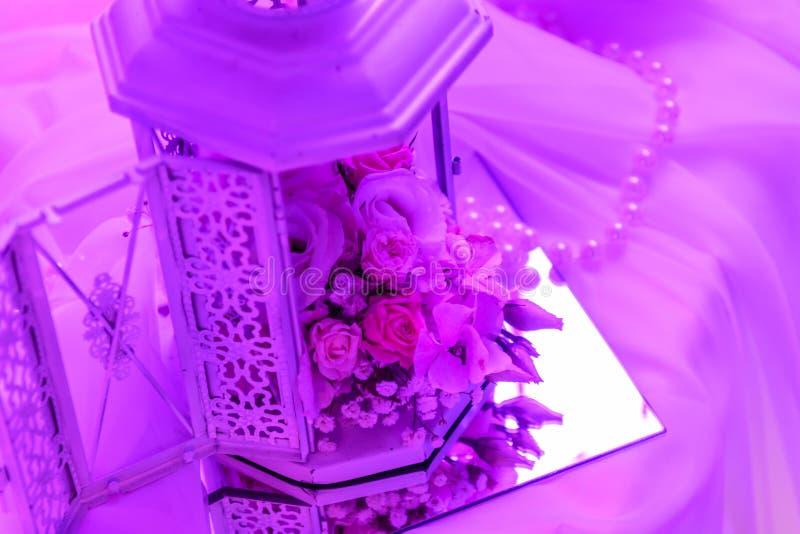 Roze bloem binnenshuis stock fotografie