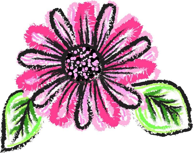 Roze bloem capricieus bloemenart. royalty-vrije stock foto