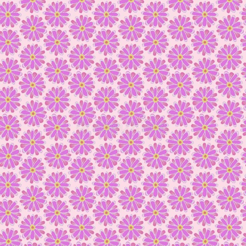 Roze bloem naadloze patronen stock illustratie