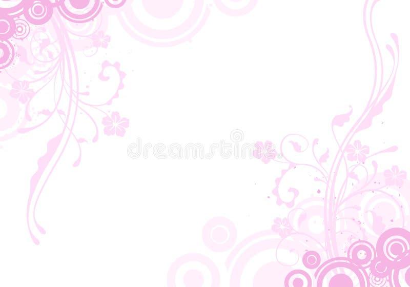 Roze bloemachtergrond royalty-vrije illustratie