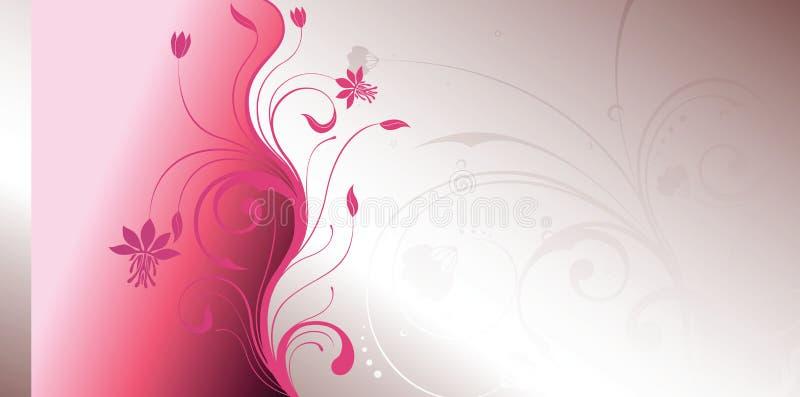 Roze bloemen royalty-vrije illustratie