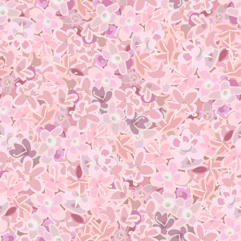 Roze bloemen achtergrond naadloze patroonanjer, kraan` s-rekening of weidegeranium wildflower, viooltje royalty-vrije illustratie