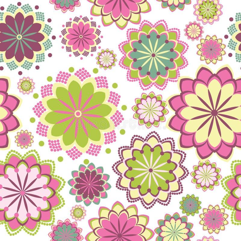 Roze bloemen naadloos patroon royalty-vrije illustratie