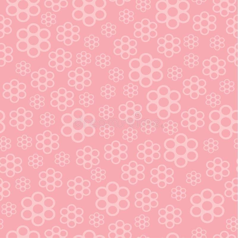Roze BloemenAchtergrond royalty-vrije illustratie